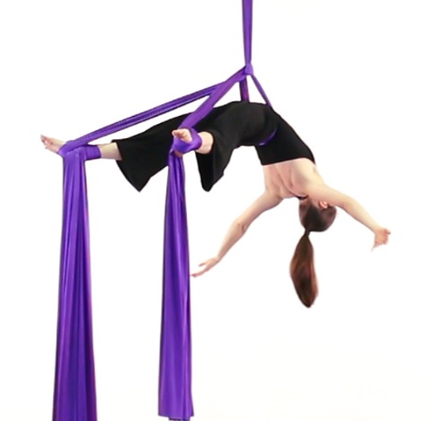 Rebekah Leach aerial fabric pose